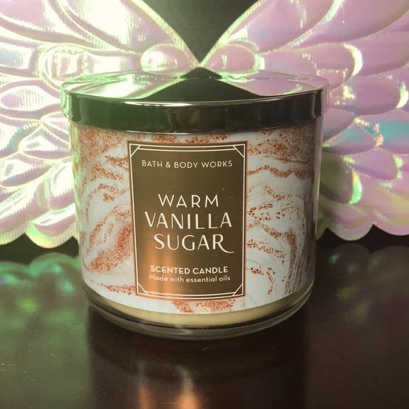BBW 3 wick candle Warm Vanilla Sugar
